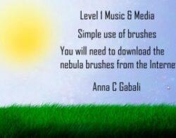 Level 1 Photoshop using brushes lesson